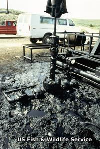 Oil well pollution.