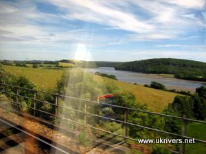 River Tamar, seen from a train