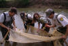Seining for invertebrates